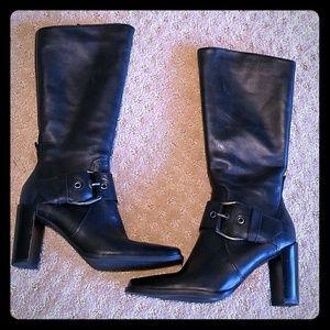 ✴️ Liz Claiborne Black Leather Zorba Boots